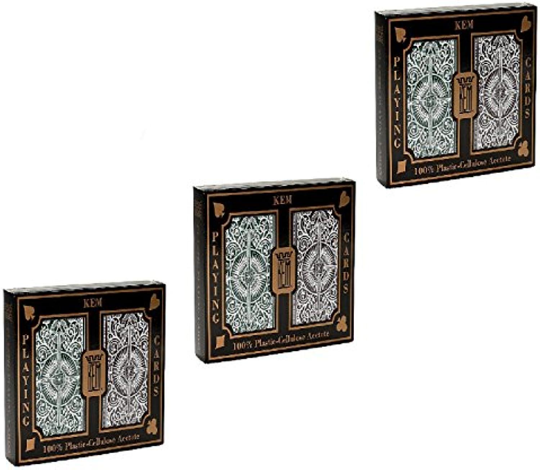 Kem Arrow Grün und Braun Brücke Gre Standard Index Spielkarten
