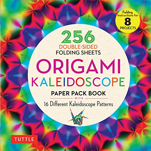 Origami Kaleidoscope Paper Pack Book: 256 Double-Sided Folding Sheets (Includes Instructions for 8 Projects)