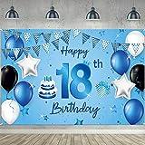 Happy 18th Birthday Hintergrund Banner Extra Große Stoff