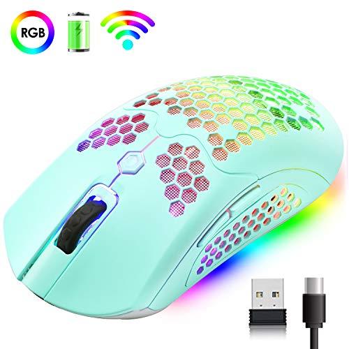 Hoopond Wireless Leichte Gaming Maus 800mAh Wiederaufladbare Mäuse PMW3325
