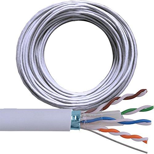 CableFinder Cat6 FTP/STP geschirmte Kabeltrommel – reines Kupfer – Ethernet-Netzwerk LAN RJ45 – 100 m