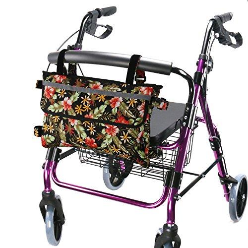 GUOER Walker Bag Suitable for Multiple Walking Aids Rollator Bag Multi-Size Multiple Colors (9.8Wx15.7L in,Color9807)