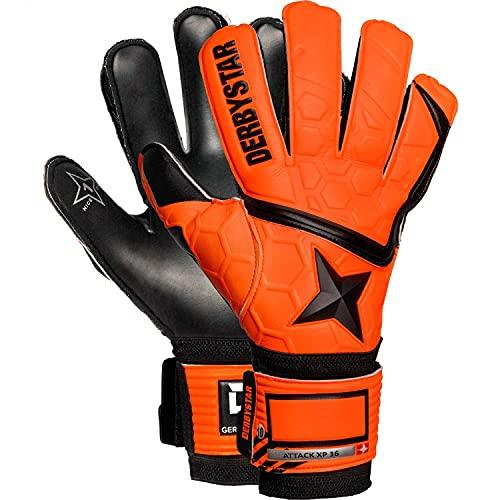 Derbystar Kinder Attack XP16 Torwarthandschuhe, orange schwarz, 3