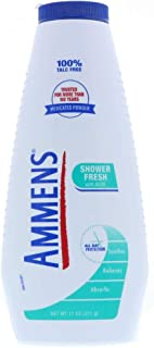 Ammens Medicated Powder Shower Fresh 11 oz (Pack of 2)