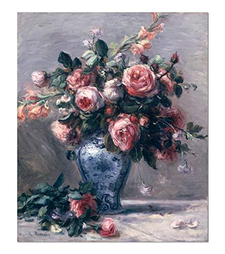 ART ALPHA - Kunstdruck - Pierre Auguste Renoir - Vase mit Rosen Poster (21 x 25 cm)