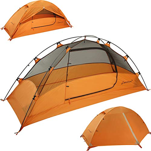 Clostnature 1-Person Tent for Backpacking – Ultralight One Person Backpacking Tent, Hiking Tent for One Man, Solo, Single Person