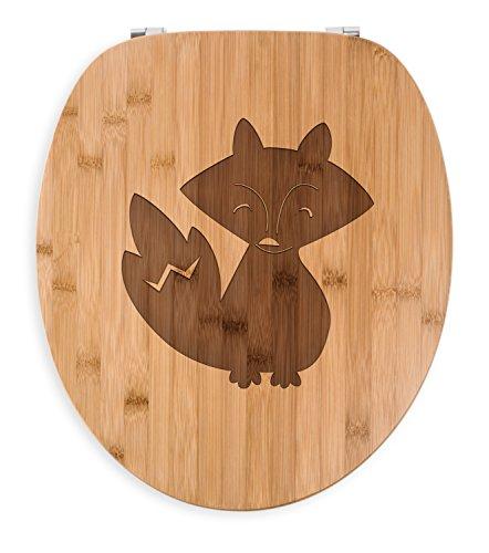 Mr. & Mrs. Panda Gravur, Badezimmer, WC Sitz Fuchs Deluxe - Farbe Transparent