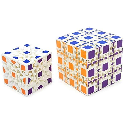 3D Gear Cube 3x3x3 Gear Puzzle Rubik'S Cube Juego de Cerebro de Juguete, 56 mm de Velocidad infinitamente Ajustable Rubik'S Cube retorcido, Rompecabezas para niños y niños