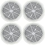 Tispufier GL2103 /900S True HEAP Filter Replacement for RIGOGLIOSO and JINPUS GL2103 Air Purifier and LTLKY 900S Air Purifier, 2 in 1 True HEPA Filters and Activated Carbon Filters (4 Pack)