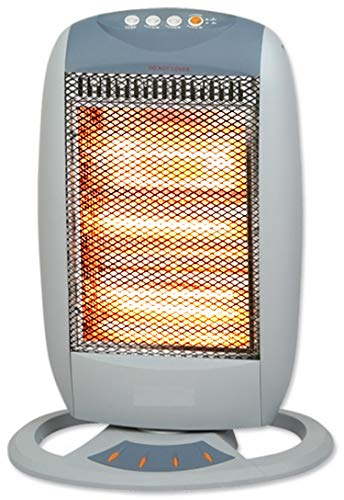 Heizstrahler | 400/800/1200 Watt | Oszillierend | Heizung | Heizgerät | Elektro Heizung | Elektroheizung | Überhitzungsschutz | Tragegriff |