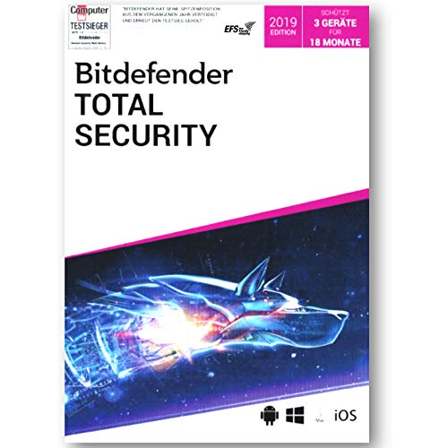 Bitdefender Total Internet Security 2019 3 Geräte Vollversion EFS PKC 18 Monate Limited Edition WIN MAC Android