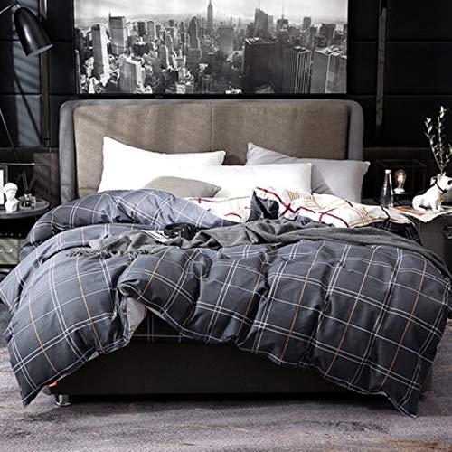 Anndreams - Funda de edredón de algodón nórdico, 150 x 200 x 230 cm, para cama de matrimonio, de algodón (200 x 230 cm)