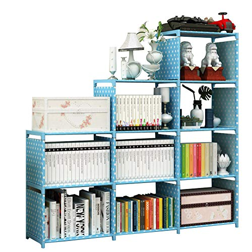 """amzdeal Modern Tall Bookshelf 5 Shelf S Book Shelf with Anti-tip Kit to Improve Stability, 68.9""""H x 27.6""""L x 9.3""""W Bookcases Free Standing Display Storage Shelves for Office Bedroom"""