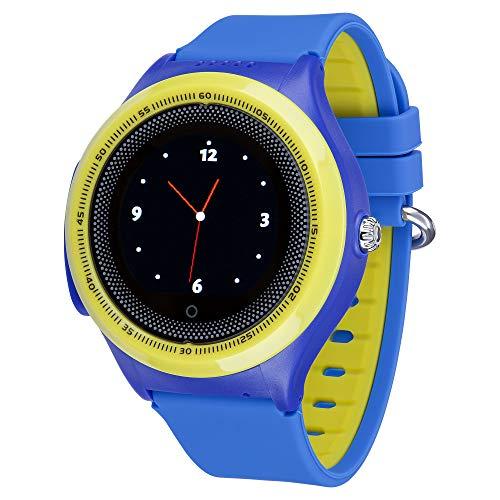 JBC Kinder GPS Uhr | Smart Watch | SOS Telefon | GPSTracker Ohne Abhörfunktion (Blau)