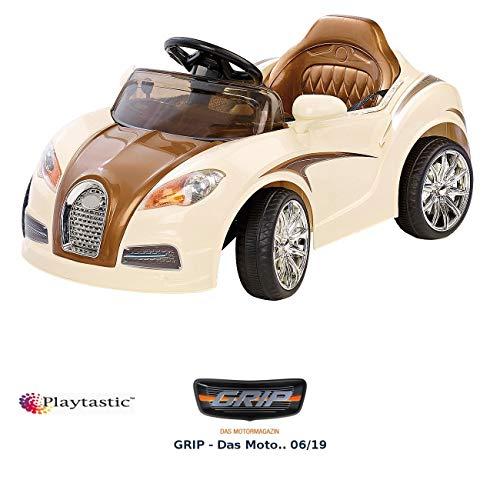 RC Auto kaufen Kinderauto Bild: Playtastic Kinderelektroauto: Edles Elektro-Kinderfahrzeug mit Fernsteuerung (Kinderauto)*
