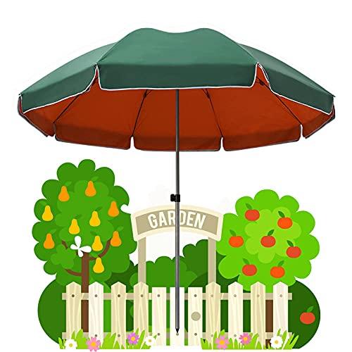 Sombrilla para Patio Exterior de 2,2 m, Tela Oxford Impermeable de Doble Capa UPF 50+, sin Base, sombrilla de Mercado de jardín de 3,4 m, Verde, Azul, con Bolsa