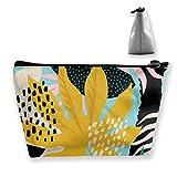 Collage Contemporáneo Patrón Floral Hawaiano en diseño de Superficie Estuche cosmético Toiletry Travel Case Organizer
