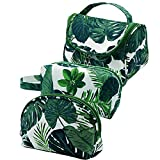 Makeup Bag 3 Pcs Travel Cosmetic Bag Set Waterproof Makeup brush Bag Case Large Portable Toiletry Bag Organizer Storage Bag for Women Girls, Green