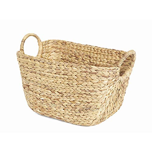 weili Compactor Home Storage X-Large Caracas Woven Storage Basket, Natural Brown,X-Large