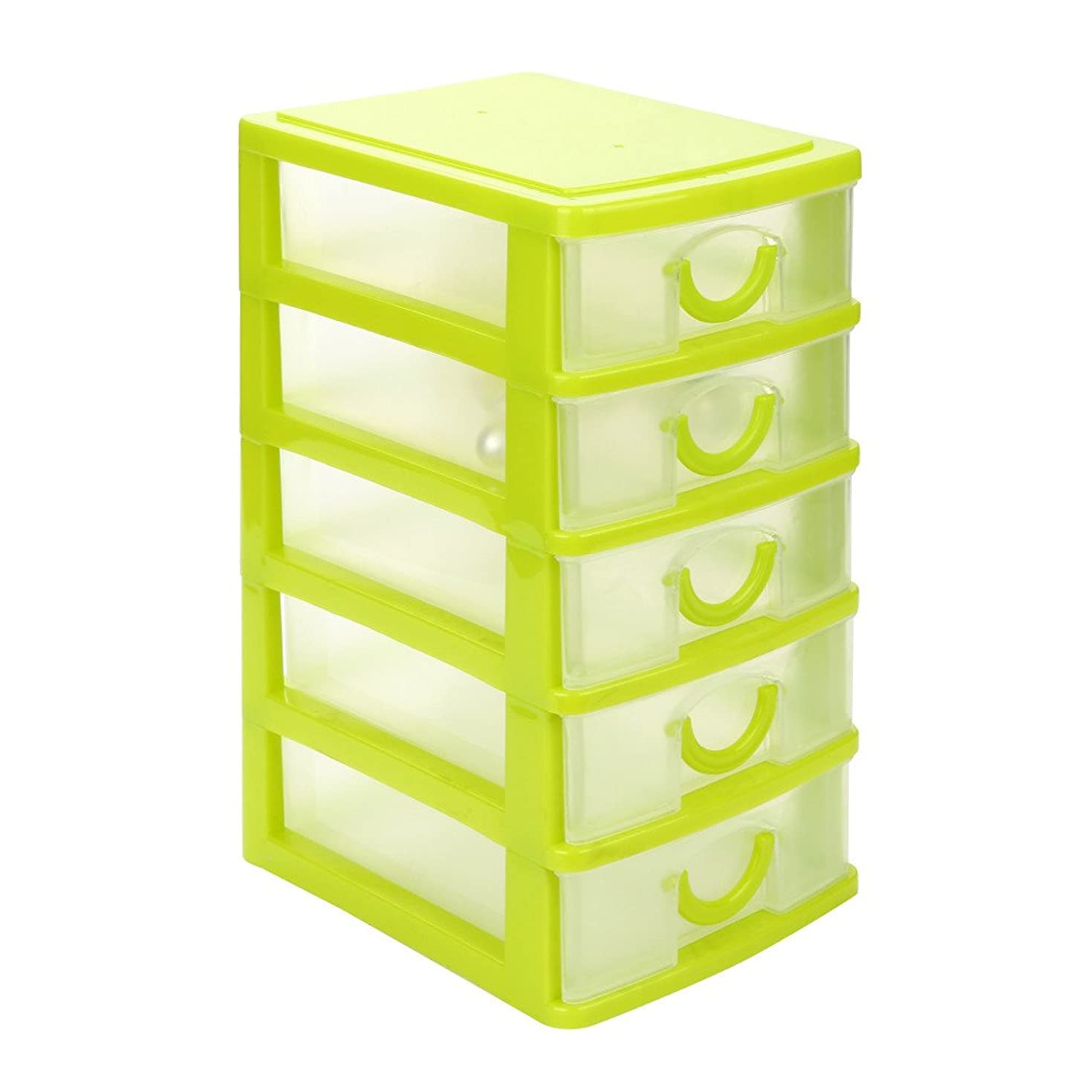 AmyDong Storage Box Drawer Case, Clearance!Durable Plastic Mini Desktop Drawer Sundries Case Small Objects (XL, Green)