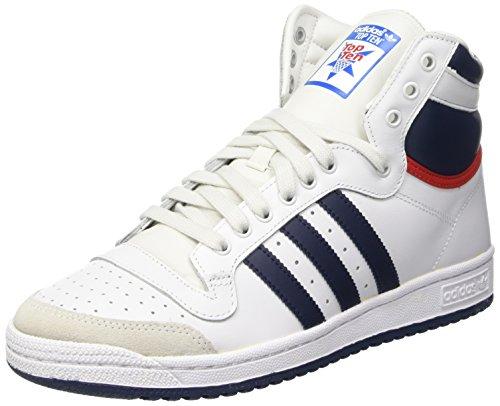 Adidas Top Ten Hi, Zapatillas Altas para Hombre, Blanco/Negro/Rojo, 40 2/3 EU