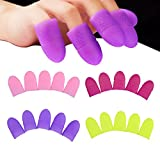 WOKOTO 20Pcs/Set Silicone Nail Clips For Gel Removal With Purple Pink Rose Yellow Nail Pol...