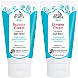 Earth Mama Kids Eczema Cream | Immediate Therapeutic Itch Relief - Steroid, Fragrance & Artificial Preservative-Free, 3-Ounce Tube (2-Pack)