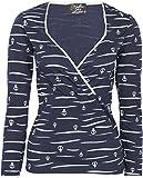 Küstenluder Damen Oberteil Genia Anker Sailor Langarm Shirt Blau M