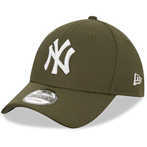 New Era Diamond Era 9Forty - Berretto Regolabile NY Yankees, Colore: Grigio Scuro, Uomo, Berretto da Uomo, 12523904, Oliva, Taglia Unica