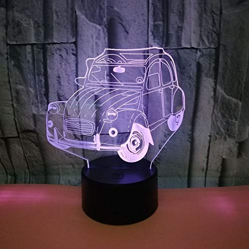 HGKDFT 3D-Illusion Lampen-Nachtlicht 7 Farben ändern Touch-Dekoration Kunst Skulptur Licht for Kind (Size : Car1)