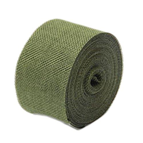 Rollo de 10 m de cinta WeiMay, para manualidades y decoración, yute, verde oscuro, talla única