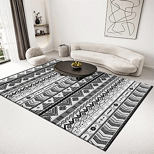 alfombras para Dormitorio Alfombra Gris Oscuro Resistente al Lavado de Agua Alfombra de balcón Simple Alfombra Persa -Gris Oscuro_80x120cm