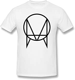 Owsla Skrillex Men T-Shirt Summer Round Neck Print Short Sleeve Tee Tops White