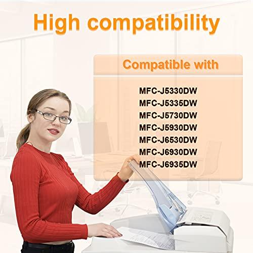 D&C 10 cartuchos de impresora compatibles con Brother LC3217 LC-3217BK LC-3217C LC-3217M LC-3217Y para Brother MFC-J5330DW MFC-J5335DW MFC-J5730DW MFC-J5930DW MFC-J6530DW MFC-J6930DW MFC-J6935DW