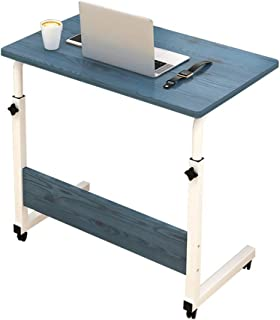 Standing Desk Computer Desk, Height Adjustable With Movable Wheels, Portable Writing Study Laptop Table Of Steel Pipe Fram...
