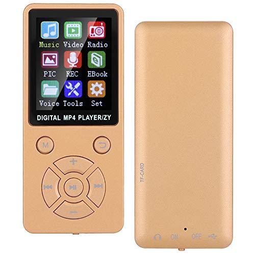 Socobeta Reproductor de música Multimedia portátil Bluetooth MP3 Radio para(Rose Gold)