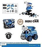 Roymart-Kit de Montaje Camion con Grua Policia Juegos Eléctricos y de Baterías/Acceso, Color (Multicolor) (Ct-4175)