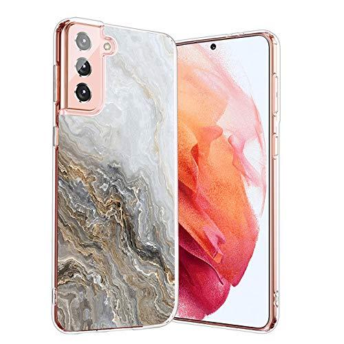 Hülle-Durchsichtig-Samsung Galaxy-S21 Plus 5G,Durchsichtig-Anti-Gelb-Handyhülle-Durchsichtig-Tasche-Schutzhülle,Klare-Marmor-Motiv-Süße-Muster,for-Samsung Galaxy S21 Plus 5G-20