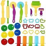 Etmury Knetwerkzeug Teig Plastilin Werkzeuge, Knete zubehör Ausstechformen Küchenspielzeug, 33...