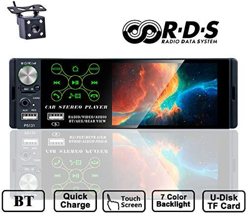TOYOUSONIC Radio del Coche 1 DIN 4.1 Pulgadas Pantalla Táctil Autoradio...