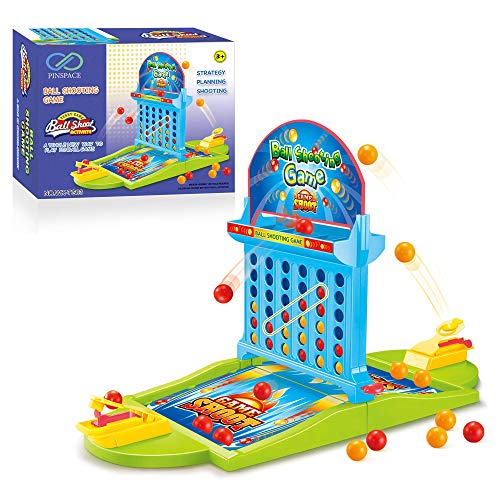 Board Game Ball Shooting Game, PinSpace 2018 Ball Shooting Travel Game for Kids Adults Party Family Game, Idea Gift for Kids 3 Years and Up