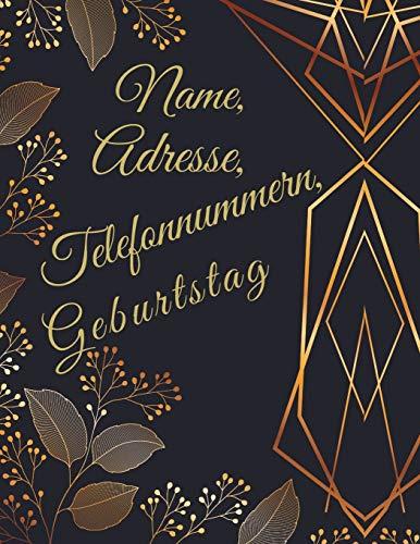 günstig Name, Adresse, Telefonnummer, Geburtsdatum: Adressbuch mit Telefonbuch – A4 (Adresse,… Vergleich im Deutschland