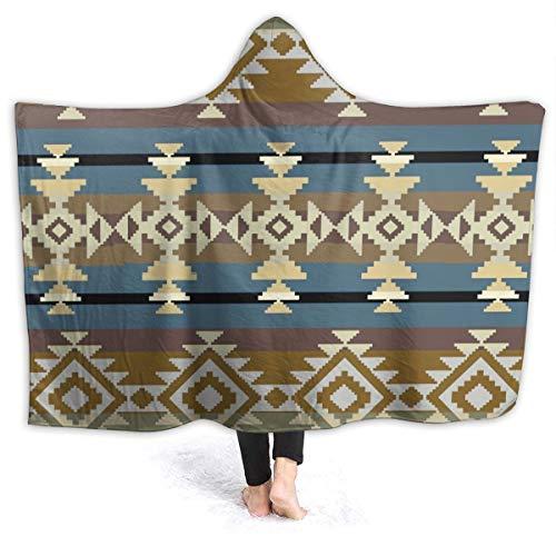 Navajo mexicano azteca inspirado en un patrón geométrico abstracto americano nativo antiguo artesanía auténtica manta de 80x60 pulgadas manta súper suave borrosa acogedora y cálida manta de felpa para
