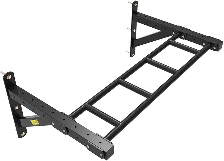 Klimmzugstangen Dip Stands Home Fitness Horizontaler Steg mit Mehreren Positionen Wandkletterwand TRX-Rahmen Stbe (Farbe   schwarz, Größe   108  63  45cm)