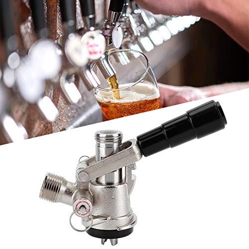 Acoplador de barril del sistema, acoplador de barril tipo S Dispensador de cerveza, dispensador de cerveza de barril con válvula de alivio de presión de seguridad Sistema de elaboración casera para us
