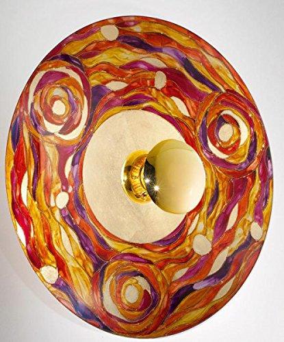 Kolarz Wandleuchte Luna Aqua 24 Karat Gold Handarbeit,Made in Austria