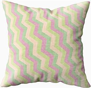 Ducan Lincoln Pillow Case 2PC 18X18,Funda De Almohada Suave,Fundas De Almohada De Tiro Cuadrado Cubiertas En Zigzag Fondo Geométrico Textura Plana Imprimir Banner Tela Web Textil