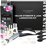 The Standard Deluxe Brow Lamination Kit and Lash Lift Kit | Easy At-Home DIY Perm Kit for Feathered Brows & Long Lifted Lashes | Instantly Fuller Eyebrows | Curled Eyelashes | Eyebrow Lamination