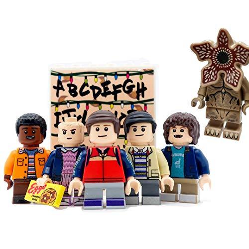 KikaToys - Kids Action Toys 6 Minifigures from Stranger Show   Playset Blocks Toys Figures for Kids