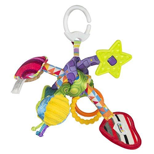 """Lamaze Baby Spielzeug \""""Knuddelknoten\"""" Clip & Go, das hochwertige Kleinkindspielzeug. Der quietschbunte Greifling fördert Motorik und ist das perfekte Kinderwagenspielzeug und Kuscheltier für Babys"""